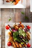 Σαλάτα θαλασσινών με την ντομάτα Στοκ εικόνες με δικαίωμα ελεύθερης χρήσης