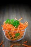 Σαλάτα καρότων στοκ φωτογραφία