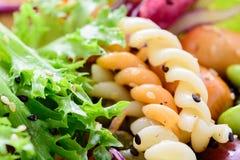 Σαλάτα κινηματογραφήσεων σε πρώτο πλάνο, τρόφιμα για υγιή Στοκ φωτογραφία με δικαίωμα ελεύθερης χρήσης