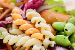 Σαλάτα κινηματογραφήσεων σε πρώτο πλάνο, τρόφιμα για υγιή Στοκ εικόνες με δικαίωμα ελεύθερης χρήσης