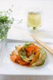 Σαλάτα κολοκυθιών με τα καρότα Στοκ εικόνες με δικαίωμα ελεύθερης χρήσης
