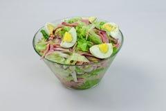 Σαλάτα με τα αυγά και τα λαχανικά Στοκ Εικόνες