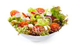 Σαλάτα με τα λαχανικά και τα πράσινα Στοκ Εικόνες