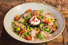 Σαλάτα με τα λαχανικά Στοκ Φωτογραφία