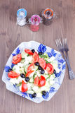 Σαλάτα με τα καρυκεύματα Στοκ Εικόνες