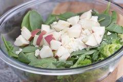 σαλάτα με τα μήλα και το τυρί Στοκ εικόνα με δικαίωμα ελεύθερης χρήσης