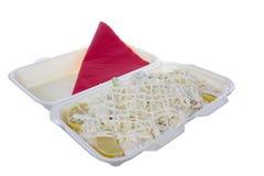 Σαλάτα με τη μαγιονέζα και το τυρί Στοκ Φωτογραφία