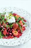 Σαλάτα με τη φράουλα Στοκ Φωτογραφία