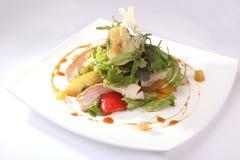 Σαλάτα με τη Apple και το κρέας Στοκ Εικόνες