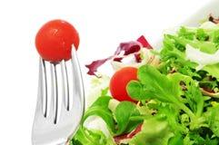 Σαλάτα με τις ντομάτες κερασιών Στοκ εικόνες με δικαίωμα ελεύθερης χρήσης