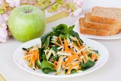 Σαλάτα με το μήλο και το καρότο Στοκ εικόνα με δικαίωμα ελεύθερης χρήσης