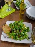 Σαλάτα με το arugula και τα πιπέρια Στοκ Εικόνες
