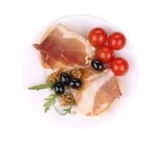 Σαλάτα με το arugula και το prosciutto Στοκ φωτογραφίες με δικαίωμα ελεύθερης χρήσης