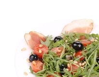 Σαλάτα με το arugula και το prosciutto Στοκ Εικόνα