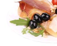 Σαλάτα με το arugula και το prosciutto Στοκ Φωτογραφία