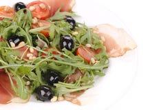 Σαλάτα με το arugula και το prosciutto Στοκ Φωτογραφίες