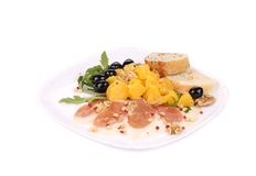 Σαλάτα με το arugula και το prosciutto Στοκ Εικόνες