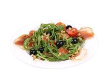 Σαλάτα με το arugula και το prosciutto Στοκ εικόνα με δικαίωμα ελεύθερης χρήσης