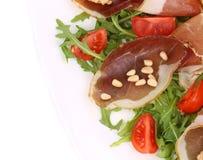 Σαλάτα με το arugula και το prosciutto Στοκ φωτογραφία με δικαίωμα ελεύθερης χρήσης