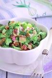 Σαλάτα μπρόκολου, σαλάτα μπρόκολου αμυγδάλων των βακκίνιων, συνταγές μπρόκολου στοκ εικόνα