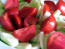 Σαλάτα ντοματών και αγγουριών Στοκ Εικόνες