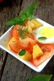 Σαλάτα ντοματών και ανανά Στοκ φωτογραφία με δικαίωμα ελεύθερης χρήσης