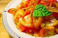 Σαλάτα ντοματών, ντομάτα, ιταλικά τρόφιμα, τρόφιμα Στοκ Φωτογραφίες