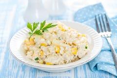 σαλάτα πιάτων κοτόπουλου Στοκ Εικόνες