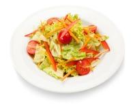 σαλάτα που βλασταίνεται στενή επάνω στο λαχανικό Απομονωμένος στο λευκό Στοκ Φωτογραφία