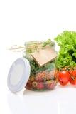 Σαλάτα σε ένα βάζο Στοκ φωτογραφία με δικαίωμα ελεύθερης χρήσης