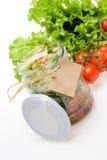 Σαλάτα σε ένα βάζο Στοκ Εικόνες