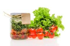 Σαλάτα σε ένα βάζο Στοκ Φωτογραφία