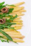 Σαλάτα σπαραγγιού με τις αντσούγιες Στοκ Εικόνες
