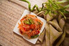 Σαλάτα της Κίνας - funchoza Στοκ εικόνα με δικαίωμα ελεύθερης χρήσης