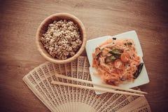 Σαλάτα της Κίνας - funchoza Στοκ Εικόνες