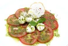 Σαλάτα του arugula και της ντομάτας Στοκ εικόνες με δικαίωμα ελεύθερης χρήσης
