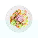 Σαλάτα τόνου σε ένα πιάτο Στοκ Φωτογραφίες