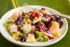 Σαλάτα φρέσκων λαχανικών και φρούτων Στοκ Φωτογραφία
