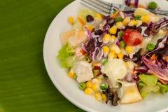 Σαλάτα φρέσκων λαχανικών και φρούτων Στοκ φωτογραφίες με δικαίωμα ελεύθερης χρήσης