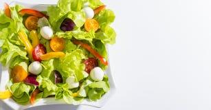 Σαλάτα φρέσκων λαχανικών που απομονώνεται στο άσπρο υπόβαθρο Στοκ Εικόνες