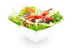 Σαλάτα φρέσκων λαχανικών που απομονώνεται στο λευκό Στοκ φωτογραφία με δικαίωμα ελεύθερης χρήσης
