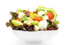 Σαλάτα φρέσκων λαχανικών στο λευκό Στοκ φωτογραφία με δικαίωμα ελεύθερης χρήσης