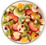 Σαλάτα φρούτων στο κύπελλο σαλάτας Στοκ Εικόνα