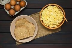 Σαλάτα ψωμιού και αυγών Στοκ Φωτογραφίες