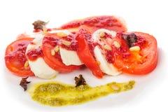 Σαλάτα antipasto Caprese με το τυρί mozarella, Στοκ Φωτογραφία
