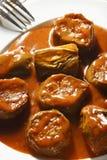 Σαλάτα Bonjan - σαλάτα μελιτζάνας από το Αφγανιστάν Στοκ Εικόνες