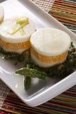 Σαλάτα Caprese με tangerine και το σπαράγγι Στοκ Εικόνες