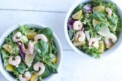 Σαλάτες γαρίδων Στοκ Εικόνα
