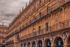 Σαλαμάνκα, Ισπανία: Δήμαρχος Plaza, το τετράγωνο αιθουσών πόλεων Στοκ Φωτογραφίες