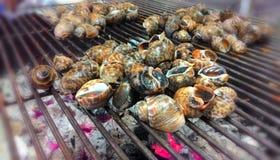 Σαλιγκάρια που ψήνονται στη σχάρα Στοκ φωτογραφία με δικαίωμα ελεύθερης χρήσης